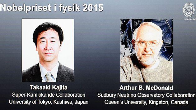Premio Nobel de Física para Takaaki Kajita y Arthur McDonald, pioneros en estudio de los neutrinos. (Reuters)