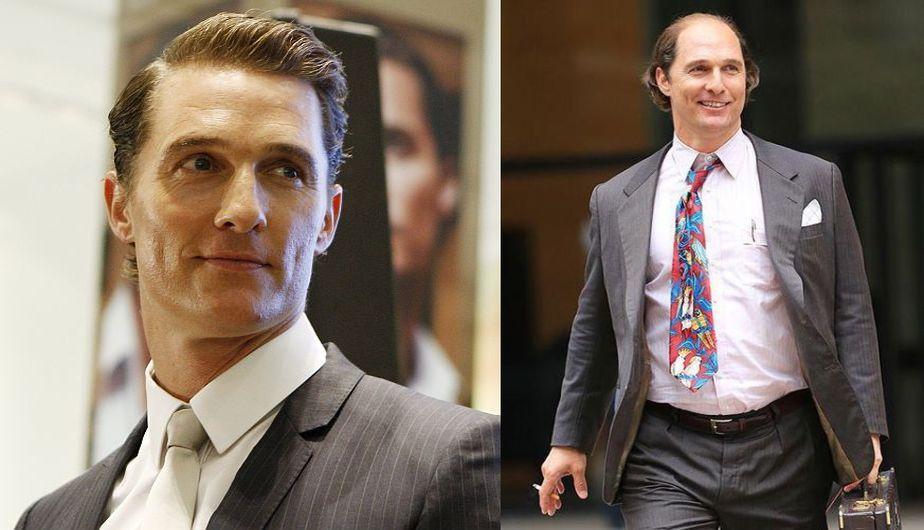 Matthew McConaughey y su nuevo cambio de look para 'Gold'. (AP/@sestivill en Twitter)