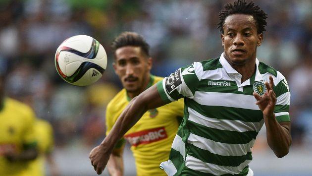 La situación de André Carrillo en el Sporting de Lisboa continúa siendo una incertidumbre. (AFP)