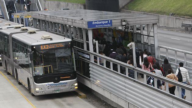 Conoce en la siguiente nota los horarios en los que operarán los buses del Metropolitano durante el feriado largo. (USI)