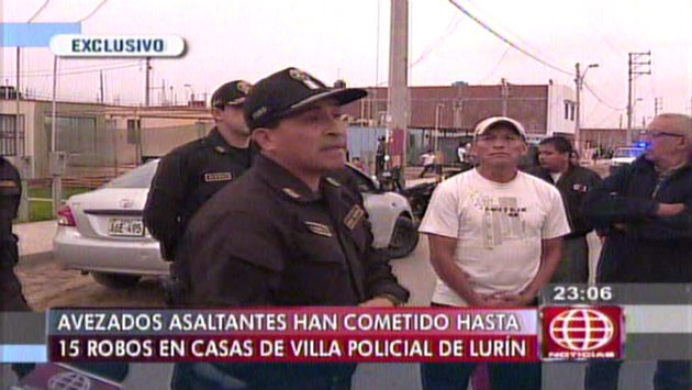 Desde julio hasta el momento 15 robos han ocurrido en esta Villa Policial de Lurín