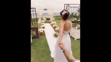 Karen Schwarz le dio el sí a Ezio Oliva en Punta Cana [Fotos]