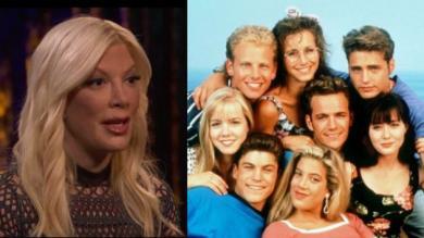 Tori Spelling, actriz de 'Beverly Hills', reveló que estuvo con tres compañeros de la serie