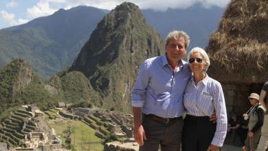Christine Lagarde, directora del FMI, visitó Cusco antes de la Junta de Gobernadores en Lima