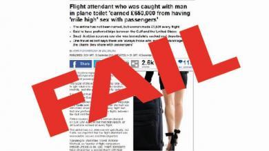 Una azafata fue despedida por tener sexo con pasajeros… No, en realidad no