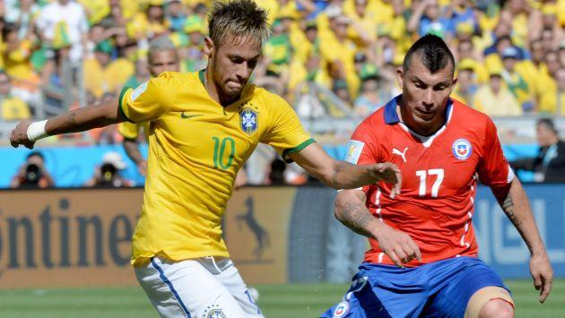 Chile ganó 2-0 a Brasil, sin Neymar, por las Eliminatorias