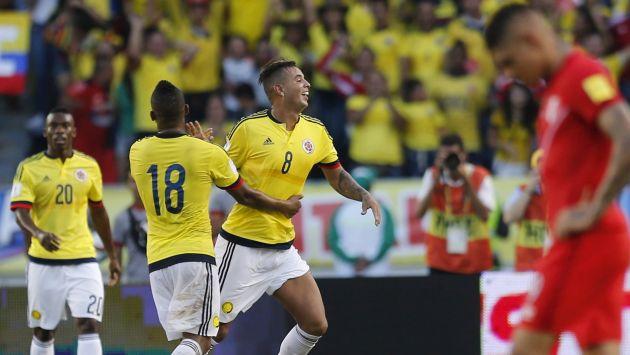 Perú cayó 2-0 ante Colombia y comenzó con mal pie el camino a Rusia 2018