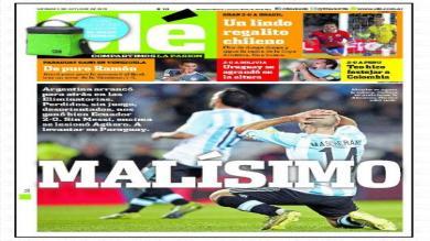 Prensa de Argentina desolada tras derrota como locales ante Ecuador