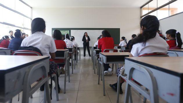 Cierre del año escolar en colegios de Lima se adelantó por Fenómeno El Niño. (USI)