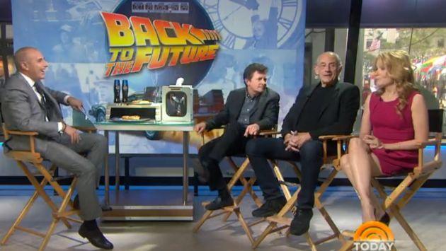 'Volver al Futuro': Marty McFly y el Doc Brown se reencontraron. (Today Show)
