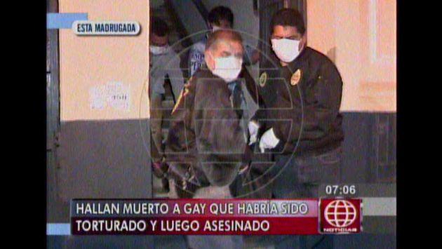 Homosexual fue hallado muerto con signos de haber sido torturado. Ocurrió en el Cercado de Lima. (Captura de TV)