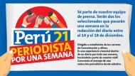 Perú21 te invita a convertirte en Periodista por una semana.