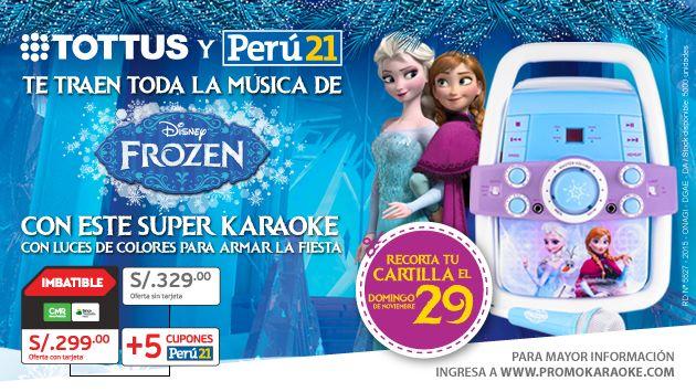 Con per 21 ll vate el karaoke de la pel cula 39 frozen 39 a casa actualidad peru21 - Karaoke en casa ...
