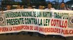 'Ley Cotillo': Universitarios marcharon para pedir archivamiento de proyecto de ley [Fotos y videos] - Noticias de marcos tejada