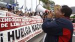 Avenida Abancay volvió a ser escenario de violenta protesta. (Anthony Niño de Guzmán)