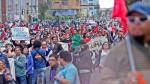 Se registraron enfrentamientos entre trabajadores estatales y la Policía (Foto: Anthony Niño de Guzmán/Perú 21)