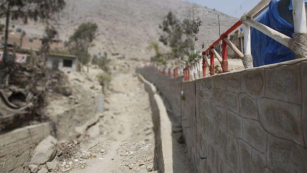 Chosica: Muros mal hechos no soportarán huaicos del fenómeno El Niño