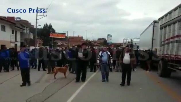 Transportistas exigen que Gobierno regional de Cusco atienda sus demandas. (Cusco Press)
