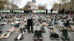 COP21: ¿Por qué el papa Francisco, Ban Ki-moon y otros personajes donaron sus zapatos en París? - Noticias de greenpeace francia