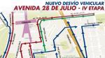 By-pass de 28 de Julio: Revisa el nuevo ajuste del plan de desvío [Video] - Noticias de meza cuadra