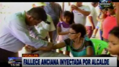 Pucallpa: Falleció anciana que fue inyectada con supuestas vitaminas por alcalde de Manantay [Video]