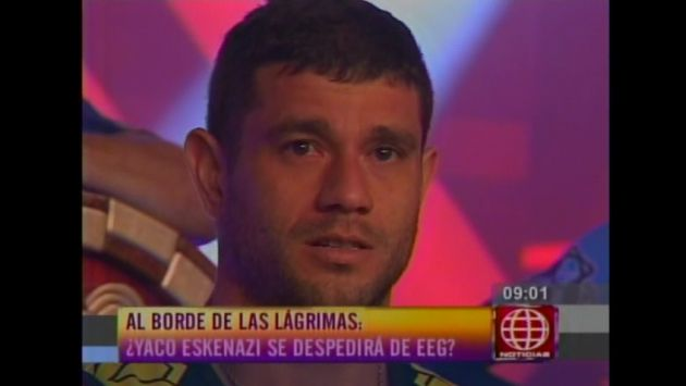 Yaco Eskenazi se despidió entre lágrimas de 'Esto es guerra'. (Captura de TV)