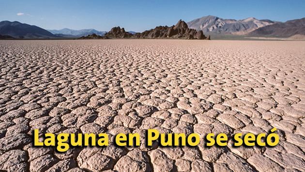 Puno: Laguna Colorada se secó debido al cambio climático.