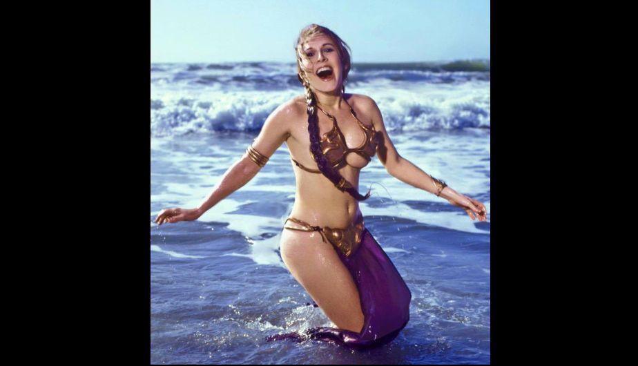 Estas fotos de carrie fisher como princesa leia en la playa arrasaron