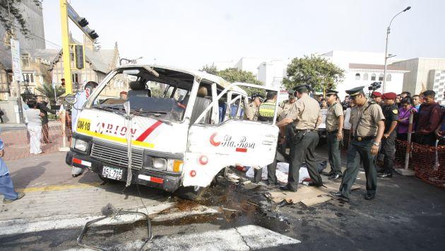 Accidentes ocurrido en el 2014 en Miraflores dejó dos muertos. (El Comercio)