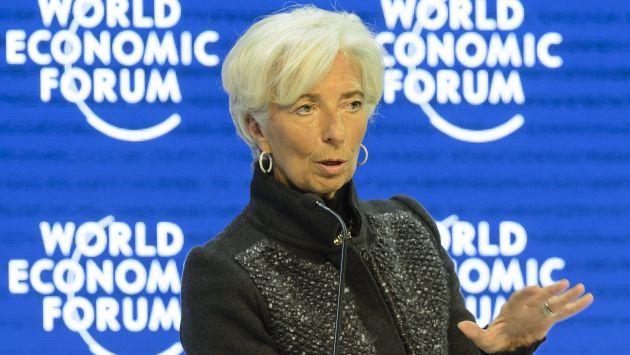 Christine Lagarde se presentó en el Foro Económico Mundial en Davos. (EFE)