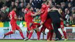 Liverpool ganó 5-4 al Norwich en un partido electrizante que se definió en el último segundo [Video] - Noticias de alberto jordan