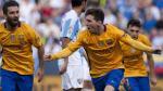 Barcelona venció 2-1 al Málaga con un golazo de media tijera de Lionel Messi [Fotos y video] - Noticias de javier malaga