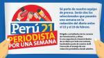 Perú21 te invita a convertirte en 'Periodista por una semana' - Noticias de diario perú21