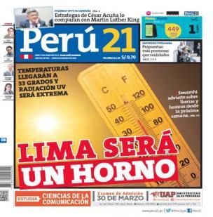 Lima será un horno