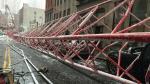 Nueva York: Al menos un muerto y 2 heridos por caída de grúa en Manhattan [Fotos y video] - Noticias de ed sanders