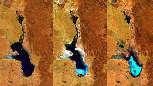 Bolivia: Agencia Espacial Europea confirmó la evaporación total del lago Poopó. (EFE)