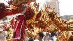Celebran el Año del Mono con tradicional danza del león y dragón. (Anthony Niño de Guzmán/Perú21)