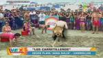 Verano Extremo: Sujeto desnudo interrumpió el programa en vivo al pasar frente a cámaras. (USI)