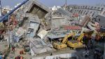 Este es el edificio que se derrumbó durante el terremoto de Taiwán. (AFP)