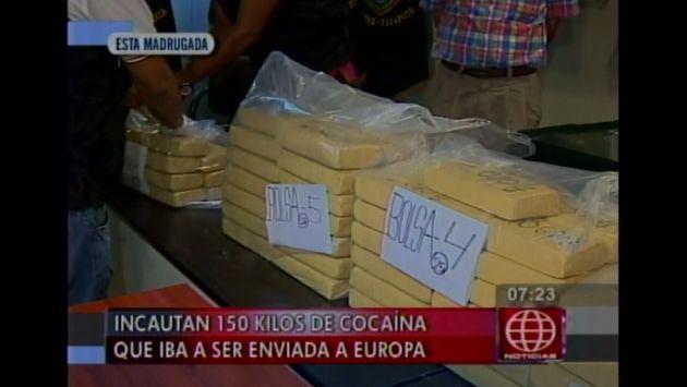 Policía Antidrogas decomisó más de 150 kilos de cocaína en el Rímac. (Captura de TV)