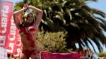 Viña del Mar 2016: Mira el 'piscinazo' de Luli Moreno, Reina del Festival [Fotos y Video] - Noticias de viña del mar 2016
