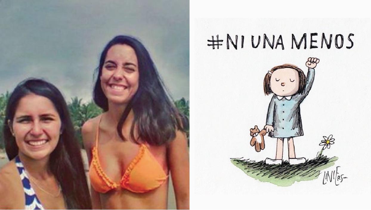 Los cuerpos de las viajeras argentinas fueron hallados el 28 de febrero. (Foto: Difusión. Ilustración: Liniers)
