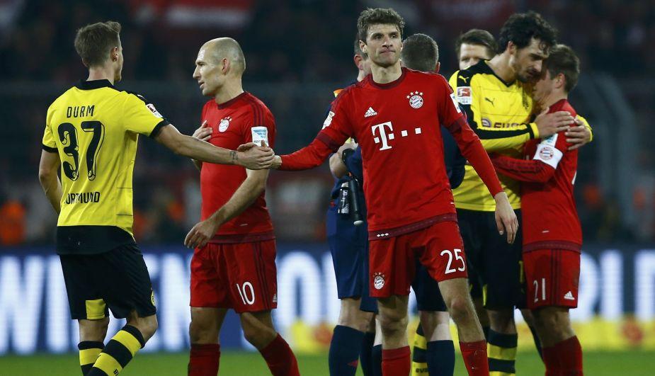 Bayern Múnich empató 0-0 con Borussia Dortmund y mantiene ventaja de cinco puntos [Fotos y video]
