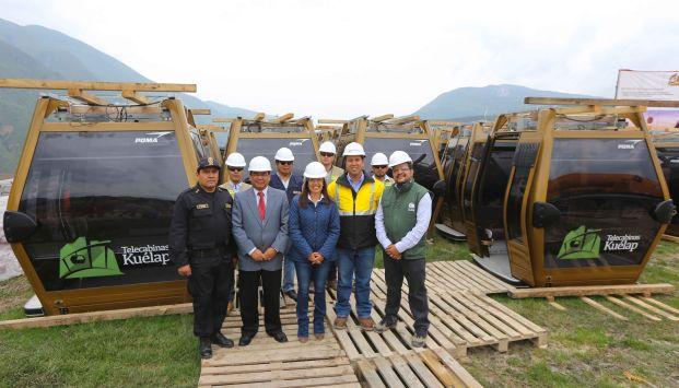 La obra es construida por el consorcio Telecabinas Kuélap, conformado por la empresa peruana ICCGSA y la francesa POMA.