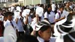 Colegio expuso al sol a alumnos por más de una hora en ceremonia de inicio de clases [Foto y video] - Noticias de pedro a. labarthe