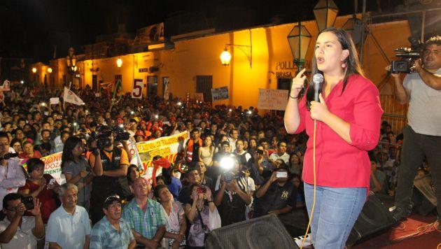Dijo que garantizará una nueva economía para un nuevo Perú. (Alan Benites)