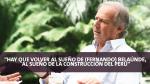 """Alfredo Barnechea: """"En cinco años podemos meter al país un empujón de 20 años"""" - Noticias de atv sur"""
