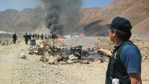En la zona se decomisaron más de 5 toneladas de anfo.
