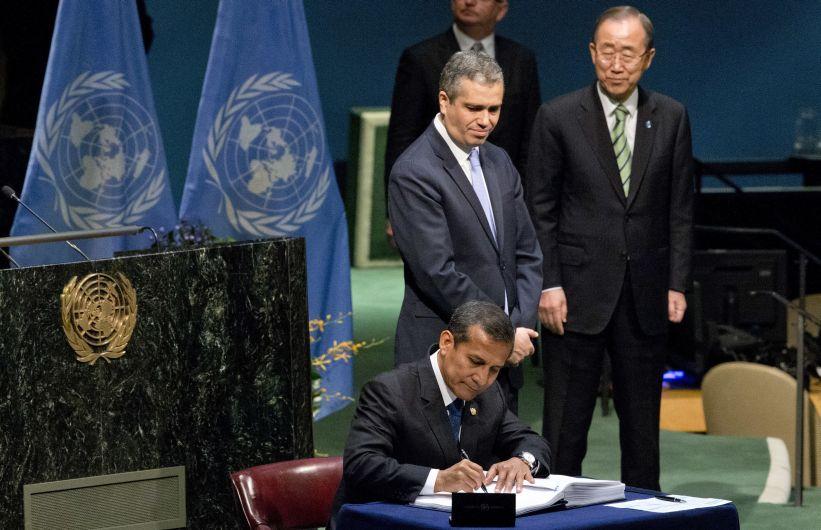 Ollanta Humala participó de la firma del histórico Acuerdo de París junto a mandatarios de todo el mundo [Fotos]