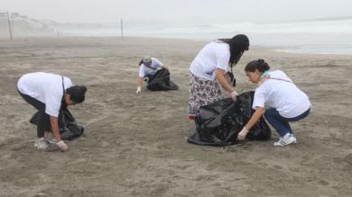 Unos 500 estudiantes limpiaron 7 kilómetros de playa en el sur